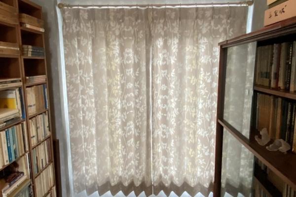 レースカーテンから遮光カーテンに吊り替え(宇治市)